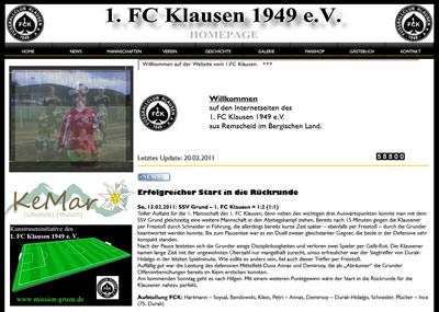 1. FC Klausen Webseite