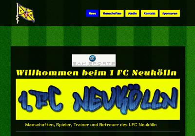 1. FC Neukölln Webseite