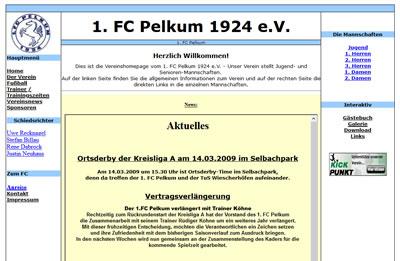 1. FC Pelkum Webseite