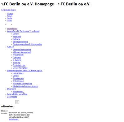 1.FC Berlin Webseite