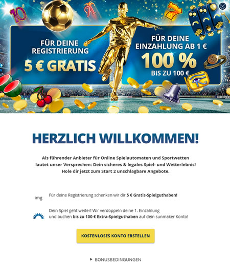 Der 5 Euro gratis Sportwetten Bonus