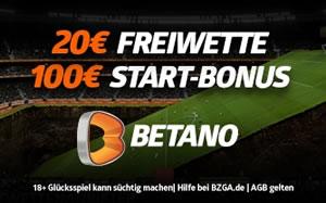 20€ Freiwette bei Betano