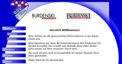 Brinkumer SV Webseite