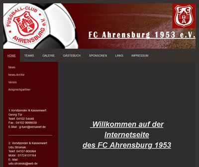 FC Ahrensburg Webseite