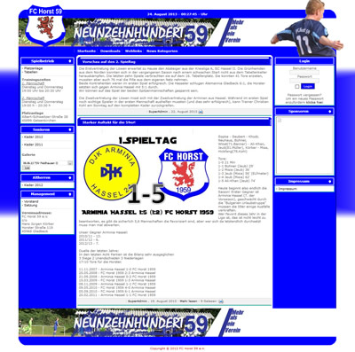 FC Horst 59 Webseite