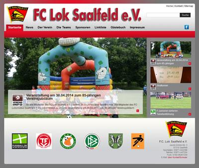FC Lokomotive Saalfeld Webseite