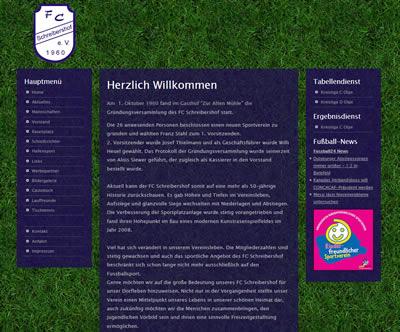 FC Schreibershof Webseite