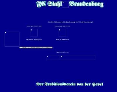 FC Stahl Brandenburg Webseite