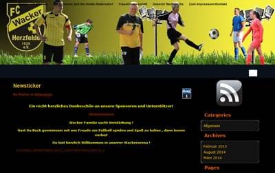 FC Wacker Herzfelde Webseite