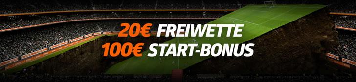 ab April 2021 gibt es 20€ gratis Wetten