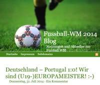 Fussball-WM Blog Webseite