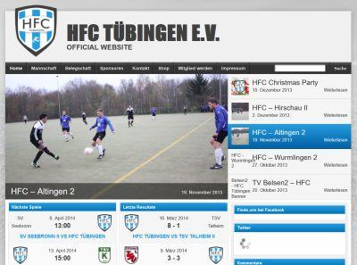 HFC Tübingen Webseite