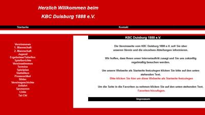 KBC Duisburg Webseite