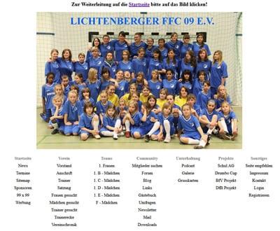 Lichtenberger FFC 09 Webseite