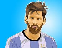 Lionel Messi in der Galerie des Sports