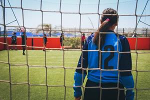 Mädchen durch Fußball integrieren