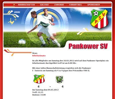 Pankower SV Webseite
