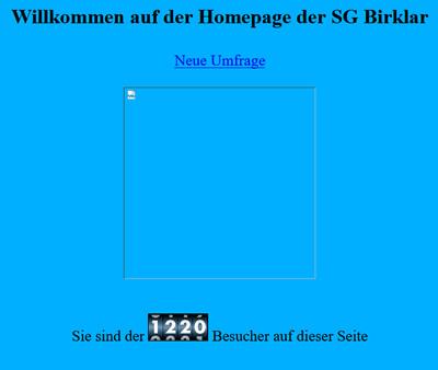 SG Birklar Webseite