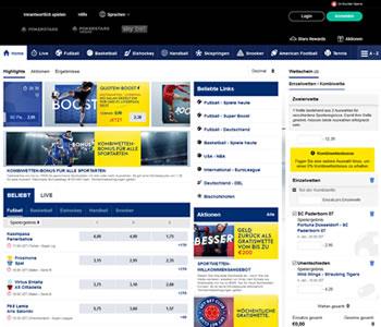 Die Webseite für Sportwetten