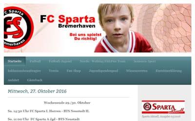 Sportclub Sparta Bremerhaven Webseite