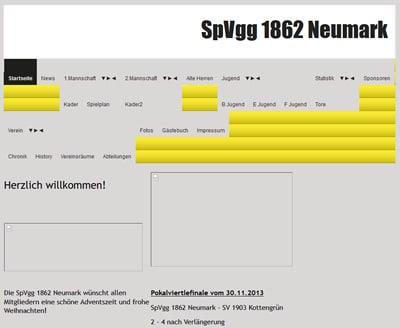 SpVgg 1862 Neumark Webseite