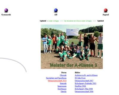 SpVgg Roßbach Webseite