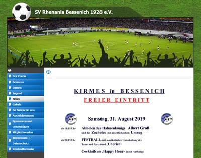SV Bessenich Webseite