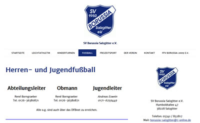 SV Borussia Salzgitter Webseite