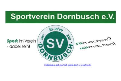 SV Dornbusch Webseite