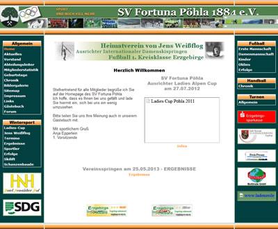 SV Fortuna Pöhla Webseite