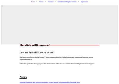 SV Gering-Kollig Webseite