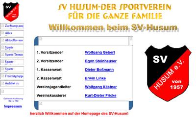 SV Husum Webseite