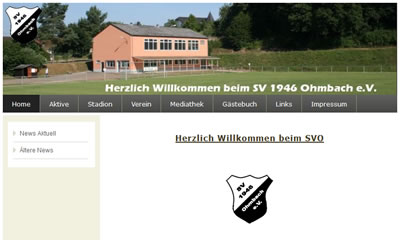 SV Ohmbach Webseite