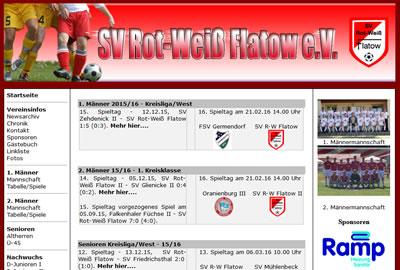 SV Rot Weiß Flatow Webseite