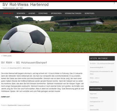 SV Rot-Weiß Hartenrod Webseite
