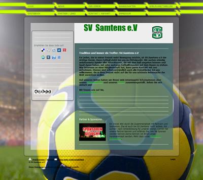SV Samtens Webseite