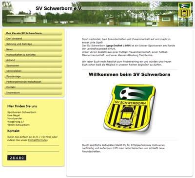 SV Schwerborn Webseite