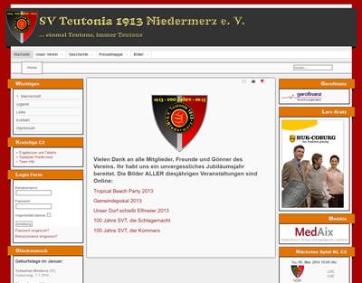 SV Teutonia Niedermerz Webseite