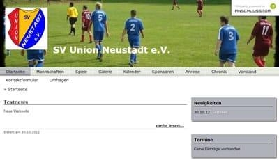 SV Union Neustadt Webseite