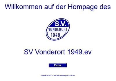 SV Vonderort Webseite