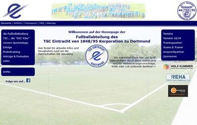 TSC Eintracht Dortmund Webseite