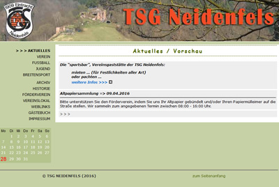 TSG Neidenfels Webseite