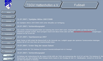 TSGV Hattenhofen Webseite