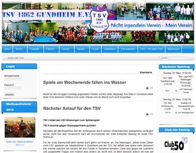 TSV 1862 Gundheim Webseite