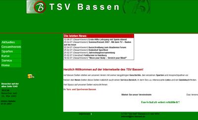 TSV Bassen Webseite