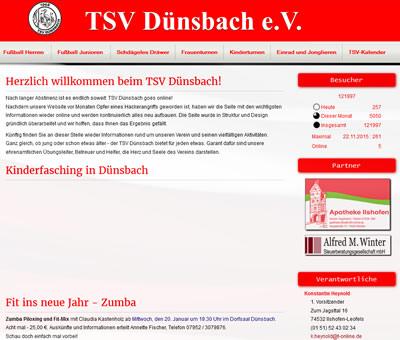 TSV Dünsbach Webseite