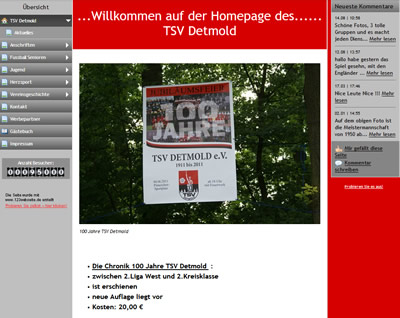 TSV Detmold Webseite