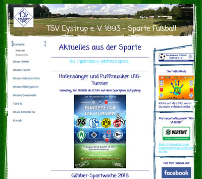 TSV Eystrup Webseite