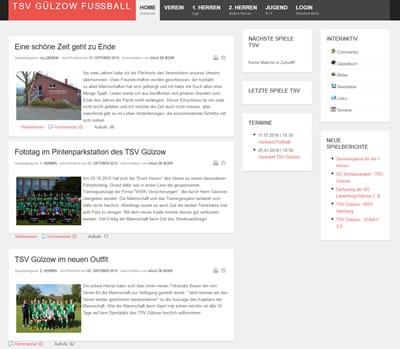 TSV Gülzow Webseite