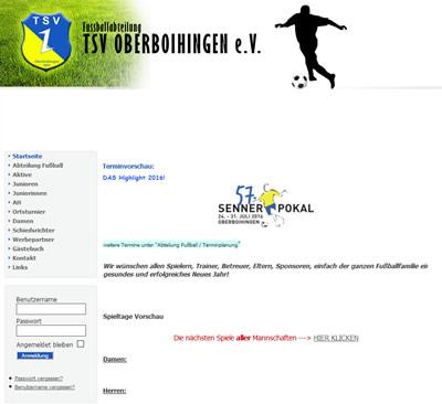TSV Oberboihingen Webseite